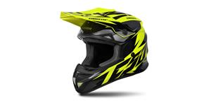helmet Cross Cup Two Kids, CASSIDA (hi-vis/black/grey)