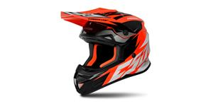 helmet Cross Cup Two Kids, CASSIDA (orange fluo/white/black/grey)