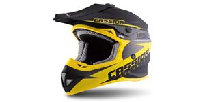 helmet Cross Cup Two Kids LP signature, CASSIDA (black matt/yellow/grey)