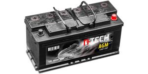 105Ah AGM battery START-STOP, 950A, right A-TECH 392x175x190