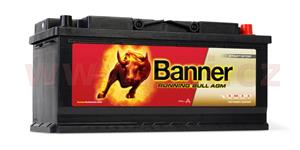 105Ah battery, 950A, right BANNER Running Bull AGM 394x175x190