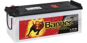 150Ah battery, 1150A, left BANNER Buffalo Bull 514x189x195(220)