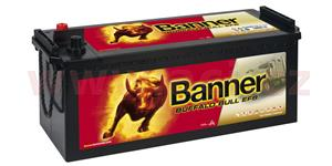 150Ah battery, 850A, left BANNER Buffalo Bull EFB 513x189x195(220)