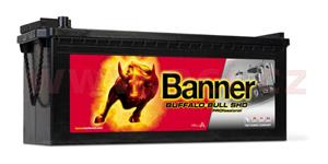180Ah battery, 1000A, left BANNER Buffalo Bull Professional 514x223x195(220)