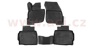 3D rubber floor mats (set 4 pcs)