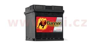 42Ah battery, 390A, right BANNER Power Bull 175x175x190