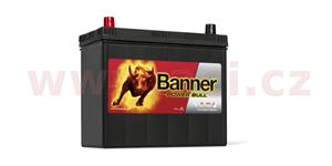45Ah battery, 360A, left, narrow poles BANNER Power Bull 238x129x203(225)