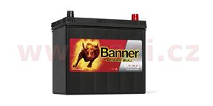 45Ah battery, 360A, right, narrow poles BANNER Power Bull 238x129x203(225)