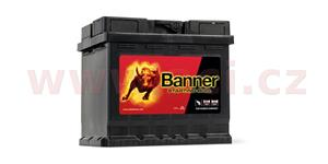 45Ah battery, 400A, right BANNER Starting Bull 210x175x190