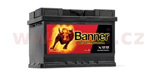 55Ah battery, 450A, right BANNER Starting Bull 241x175x175