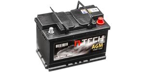 60Ah AGM battery START-STOP, 680A, right A-TECH 242x175x190