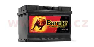 60Ah battery 480A, left BANNER Starting Bull 241x175x175