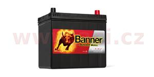60Ah battery, 480A, right BANNER Power Bull 233x173x203(225)