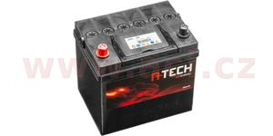 60Ah battery, 500A, left A-TECH 232x173x225