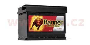 60Ah battery, 540A, right BANNER Power Bull 241x175x175