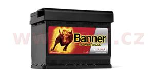 62Ah battery, 540A, right BANNER Power Bull 241x175x190