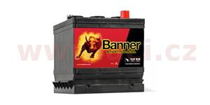 66Ah battery, 6V, 360A, right BANNER Starting Bull 178x175x166(188)