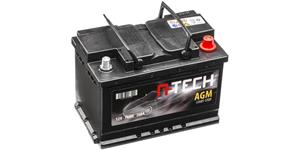 70Ah AGM battery START-STOP, 760A, right A-TECH 278x175x190