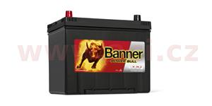 70Ah battery, 570A, left BANNER Power Bull 260x174x200(222)