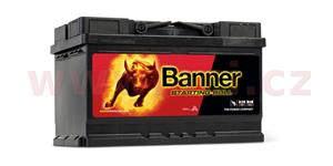 70Ah battery 640A, right BANNER Starting Bull 278x175x175