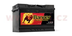 72Ah battery, 640A, left BANNER Starting Bull 278x175x190