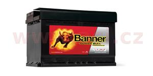 77Ah battery, 680A, right BANNER Power Bull Professional 278x175x175