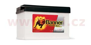 77Ah battery, 680A, right, BANNER Power Bull Professional 278x175x190