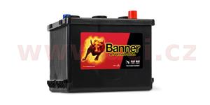 77Ah battery, 6V, 450A, right BANNER Starting Bull 216x170x166(191)