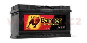 80Ah battery, 660A, right BANNER Starting Bull 315x175x175