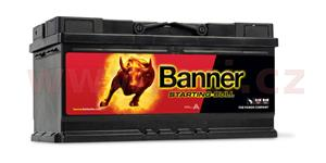 88Ah battery, 680A, right, BANNER Starting Bull 354x175x190