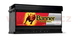 95Ah battery, 760A, right BANNER Power Bull 354x175x190