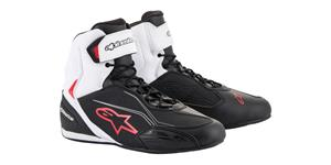 boots FASTER-3, ALPINESTARS (black/white/red)