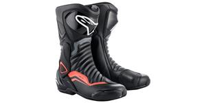 boots S-MX 6, ALPINESTARS (black/grey/red fluo)