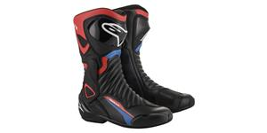boots S-MX 6 HONDA collection 2021, ALPINESTARS (black/red/blue/white)