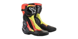 boots SMX PLUS 2 2021, ALPINESTARS (black/red fluo/yellow fluo/gray)