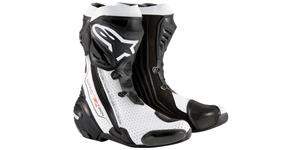 boots SUPERTECH R 2020, ALPINESTARS (black/white, perfored leather)