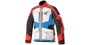 bunda ANDES DRYSTAR HONDA kolekce, ALPINESTARS (grey/red/blue)