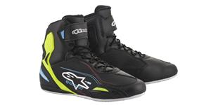 FASTER-3  SHOES, ALPINESTARS (black/yellow fluo/light blue)