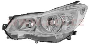 headlamp H11+HB3 (electrically operated) chrome L