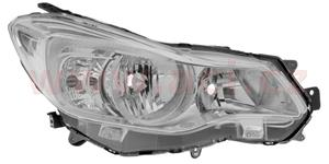 headlamp H11+HB3 (electrically operated) chrome R