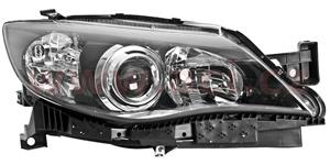 headlamp H7+HB3 (electrically operated) black R