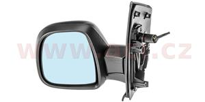 rear view mirror convex manually controlled by a cable black  L