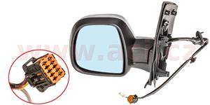 rear view mirror electrically operated heated primed, 5 PIN  L