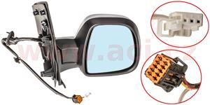 rear view mirror electrically operated heated primed with temp. sensor 7 PIN  R