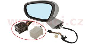 rear view mirror electrically operated heated with indicator lamp el. foldable with foot lamp part primerized (10pins)  L