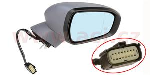 rear view mirror electrically operated heated with indicator lamp el. foldable with foot lamp primerized (9pins)  R