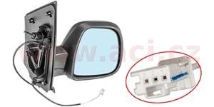 rear view mirror manually controlled with a temp. sensor black, 2 PIN  R