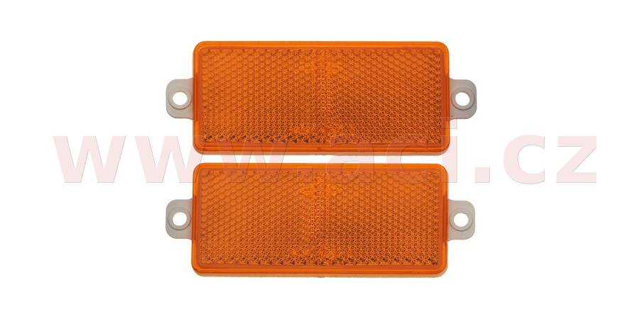 Rectangular reflex reflector 90x40 mmon housing with 2 holes (2 pcs)