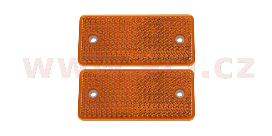 Rectangular reflex reflector 94x44 mm with 2 holes (2 pcs)