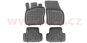 rubber floor mats with higher edge (set 4 pcs)